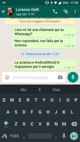 Chiamata persa WhatsApp