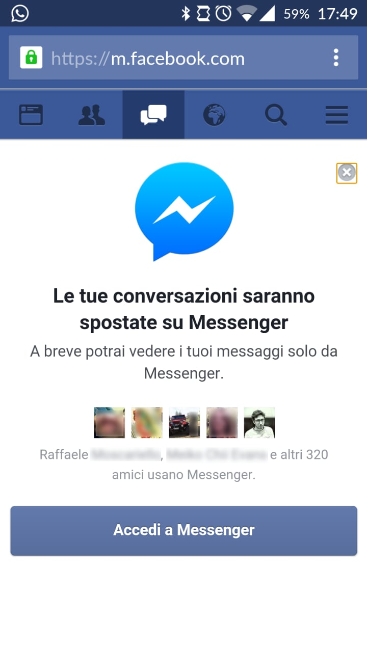 how to open messenger in browser