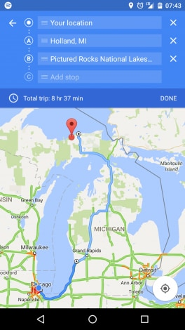 Google Maps - tappe intermedie multiple - 1