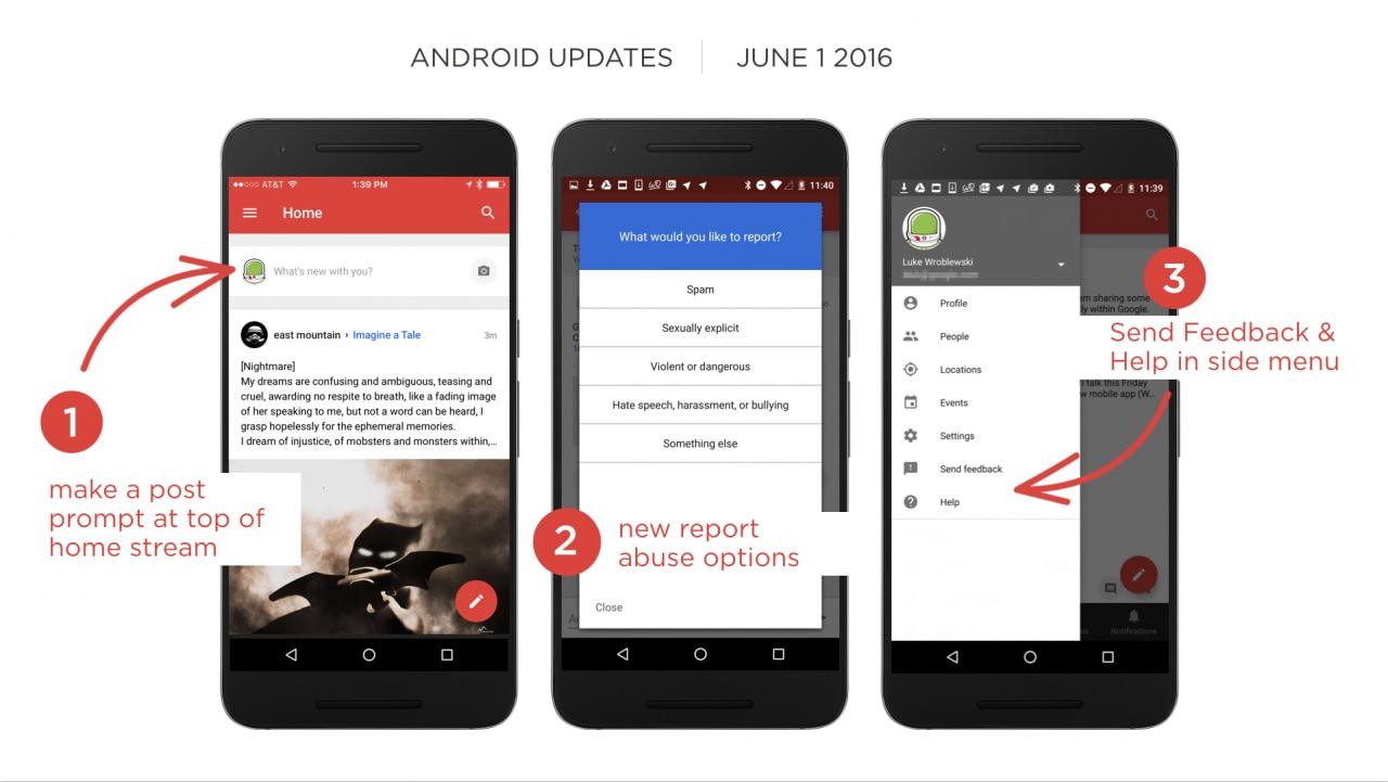 Google+ si aggiorna alla versione 8 con 8 bug fix, un nuovo modo di creare post, e altro