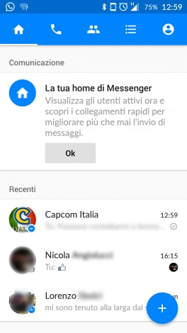 Home Facebook Messenger Android  1