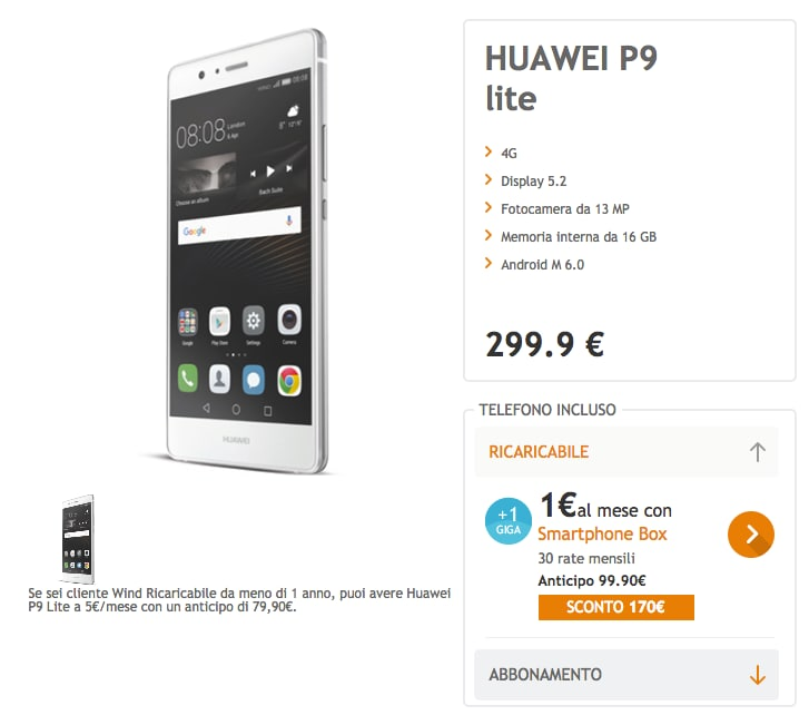 Huawei P9 Lite Wind