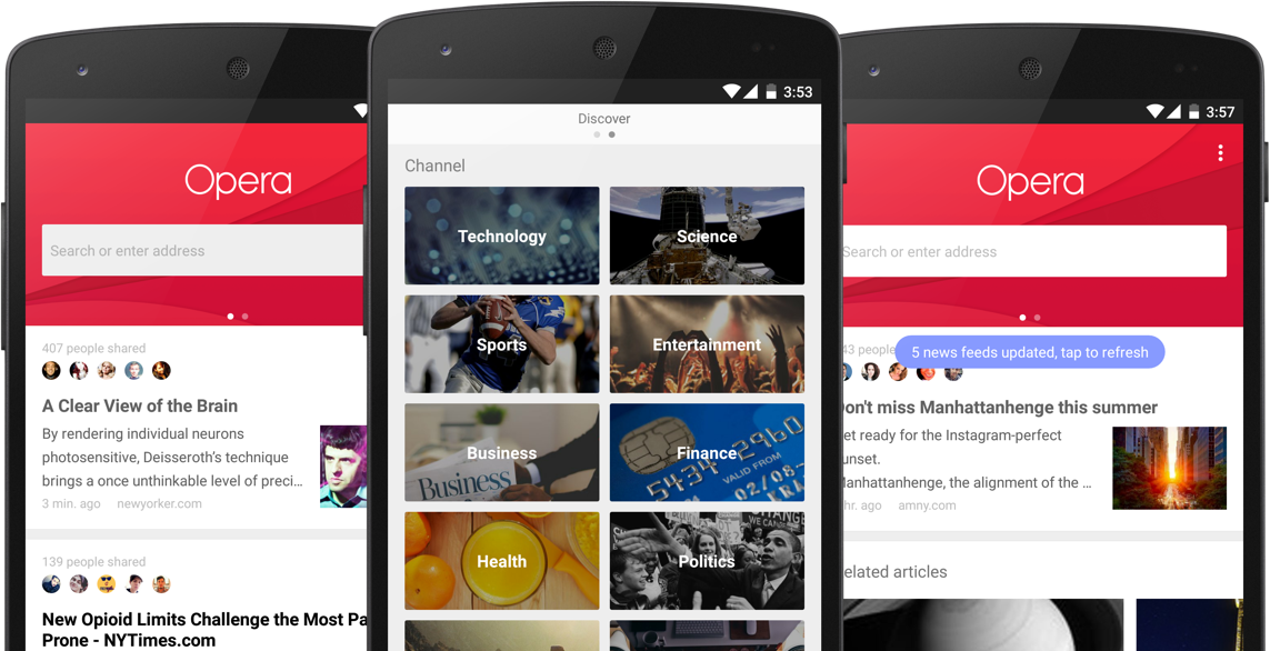 Opera browser - News & Search App (1)