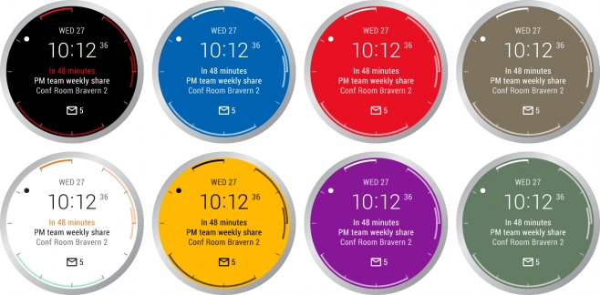 Outlook watch face for Android Wear 2