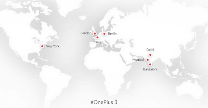 OnePlus 3 - eventi pop-up