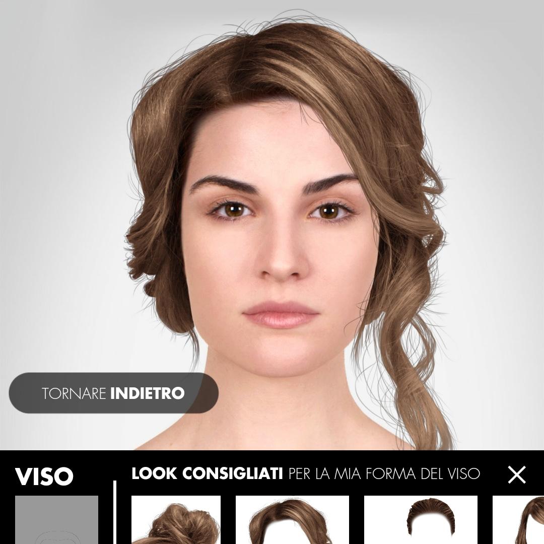 App per vedersi con diversi tagli di capelli