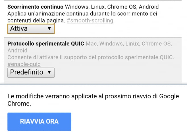 Velocizzare Chrome Android - 3