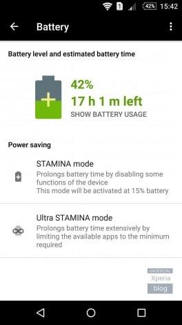 Xperia Z5 modalità stamina - 2