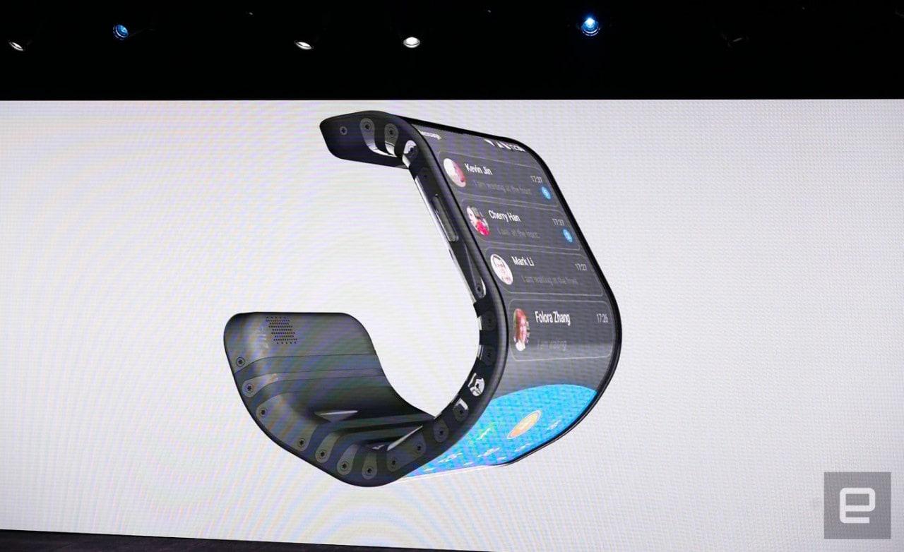 lenovo smartphone polso tablet pieghevole flessibili