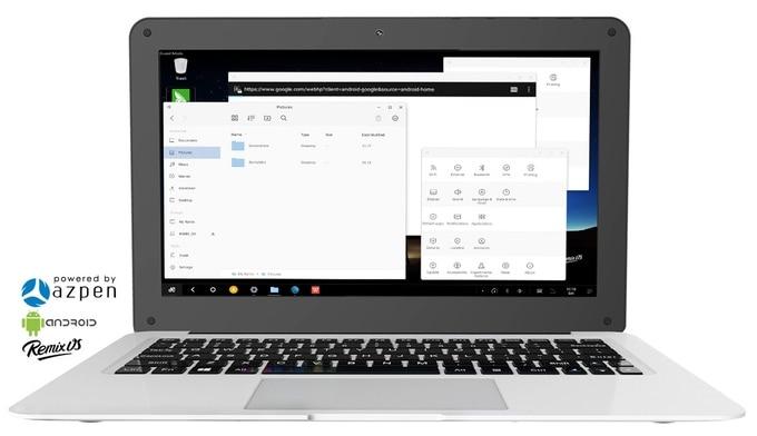 "Azpen Hybrx A1160 è un laptop ""super sottile"" con Remix OS da soli 89$ su Kickstarter (video)"