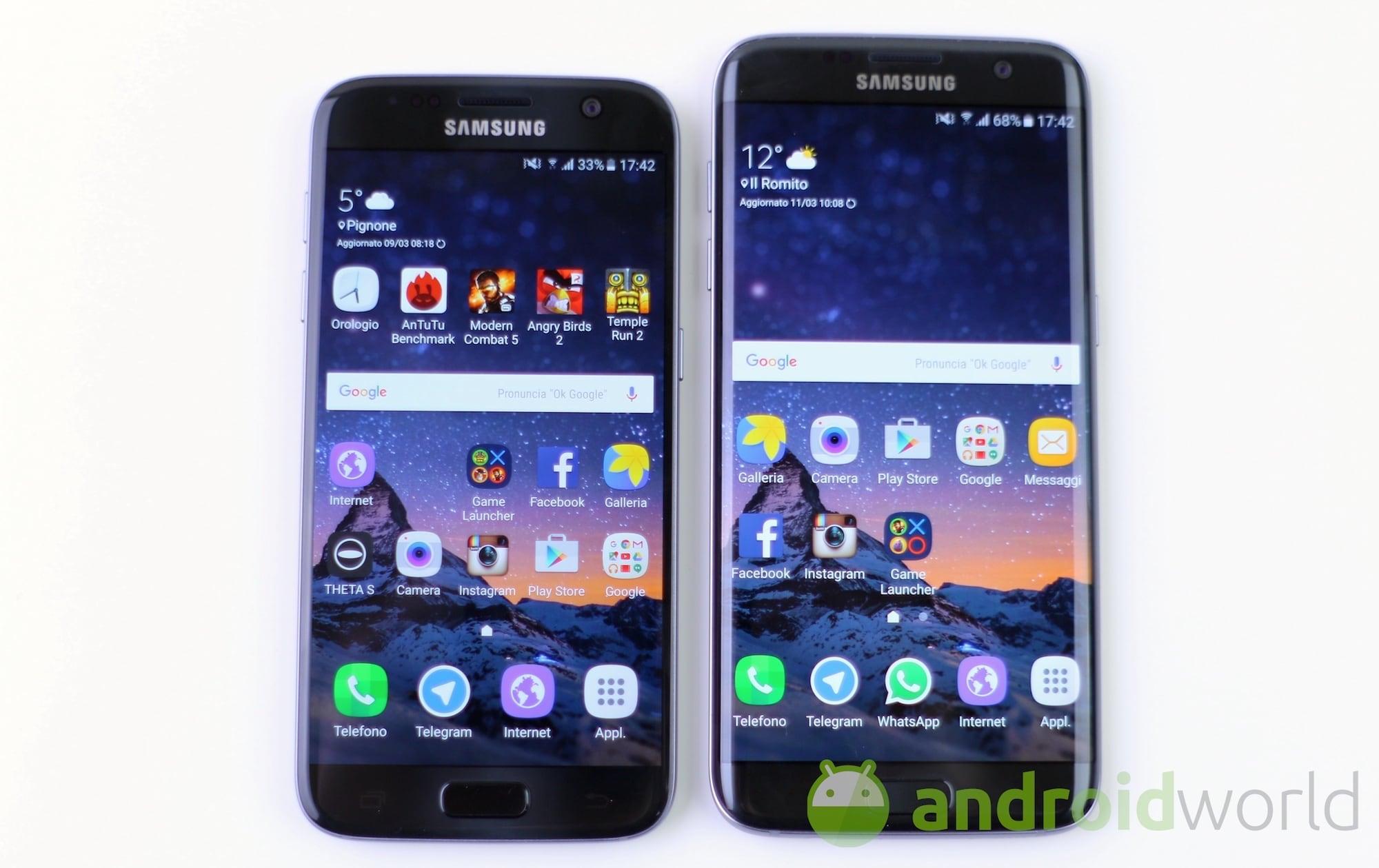 Ci sono un Galaxy S7 ed un S7 edge con Android Nougat in questi benchmark!