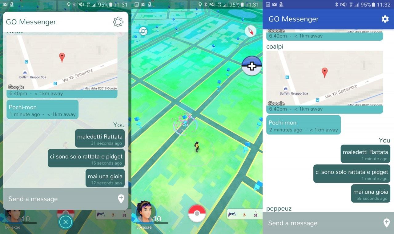 GO Messenger è un'ottima app di messaggistica che si integra con Pokémon GO