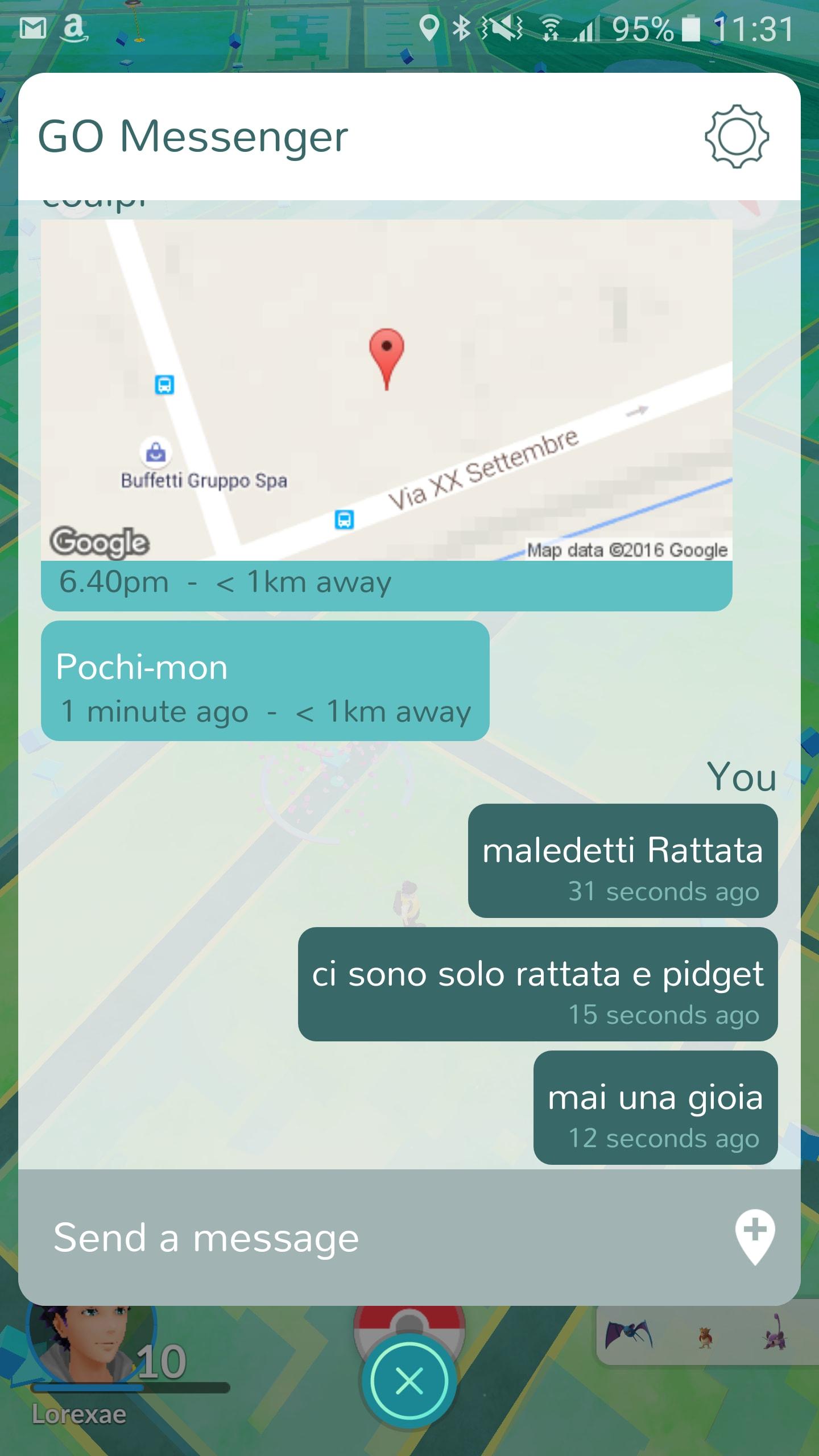GO Messenger screenshot – 1