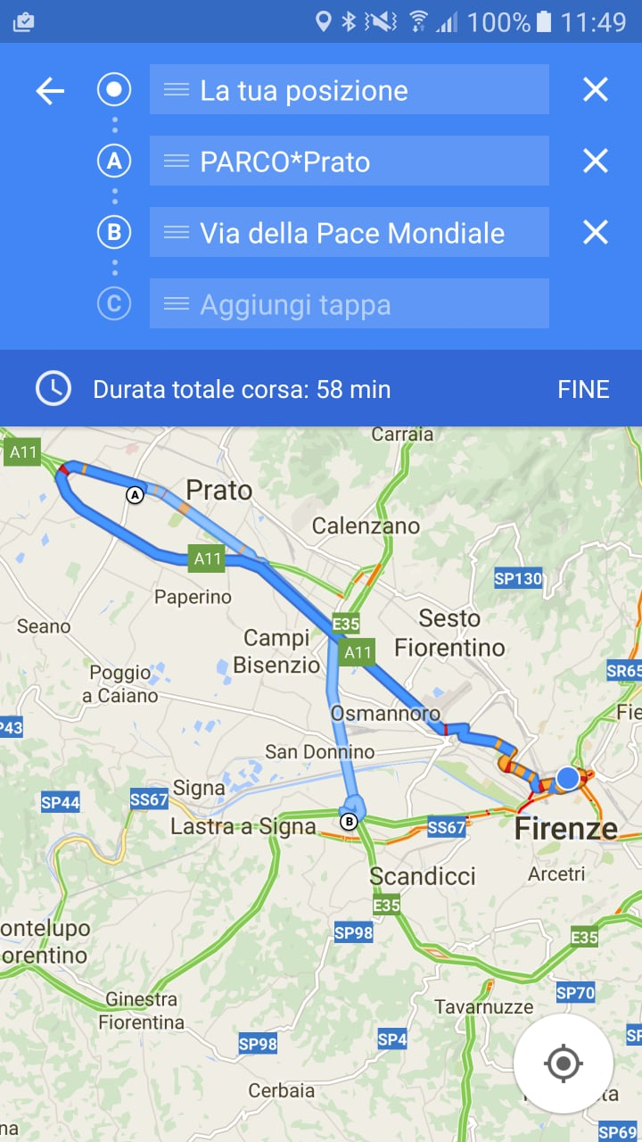 Google Maps Beta Tappe Multiple