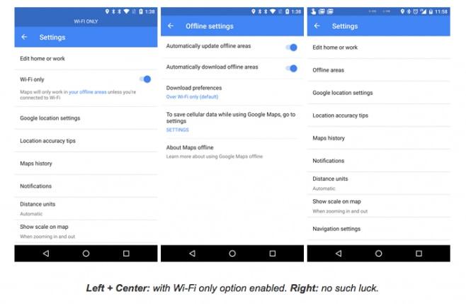 Google Maps wi-fi only - 1