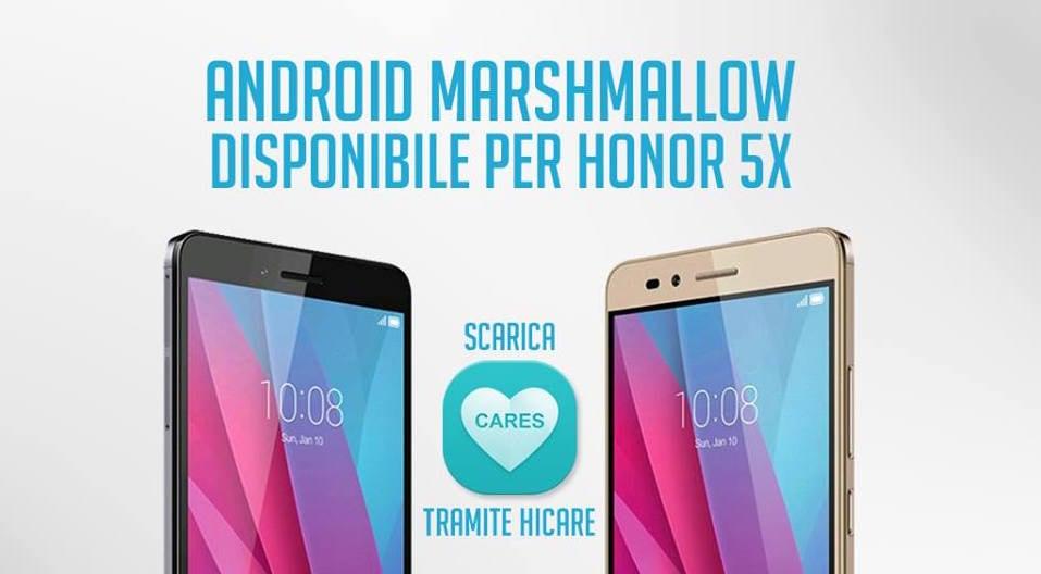 Honor 5X: arriva in Italia l'aggiornamento a Marshmallow