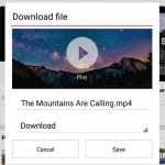 Opera mini download video