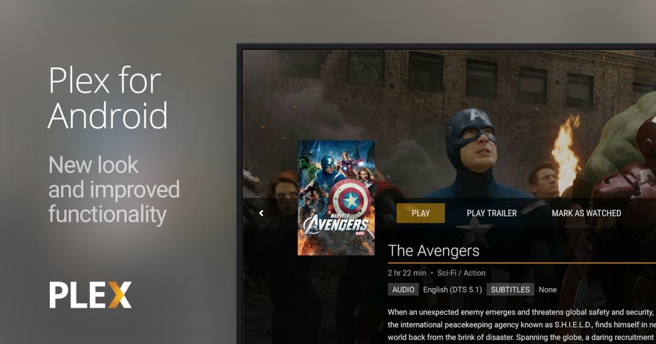 Plex for Android si aggiorna (due volte): nuova interfaccia Android TV e tanto altro