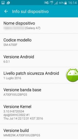 Samsung Galaxy A7 (2015) Marshmallow - 1