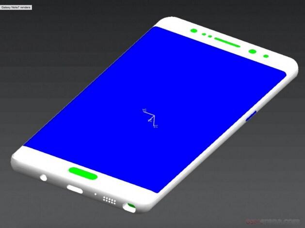 Samsung Galaxy Note 7 nuovi render - 3