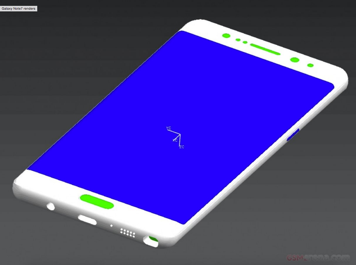 Samsung Galaxy Note 7 nuovi render – 3