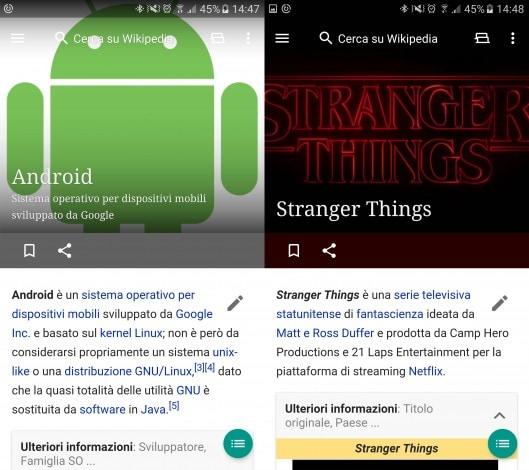 Wikipedia Android novità