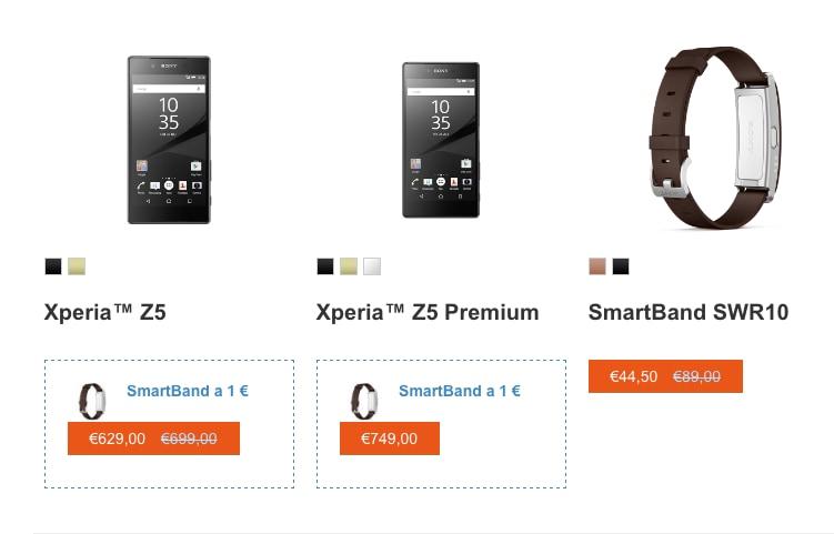 Xperia Z5 regalo Smartband
