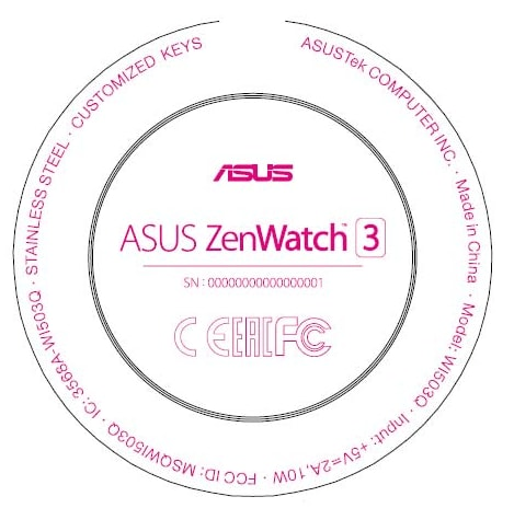 Asus-Zenwatch-3 FCC