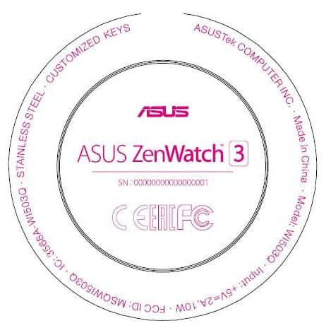 Asus-Zenwatch-3 FCC