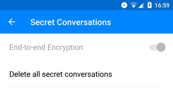 Nella beta di Facebook Messenger compaiono le chat segrete, ma non sono utilizzabili