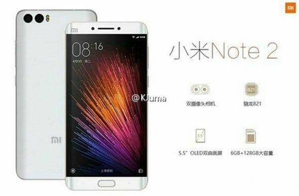 """Ancora """"conferme"""" per Xiaomi Mi Note 2 con display dual edge"""