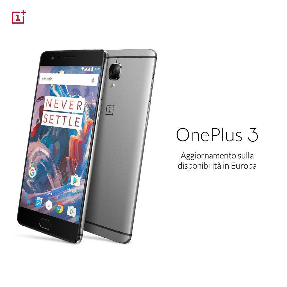 OnePlus 3 pausa vendita