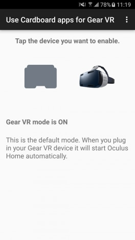 Use Cardboard apps for Gear VR - 1
