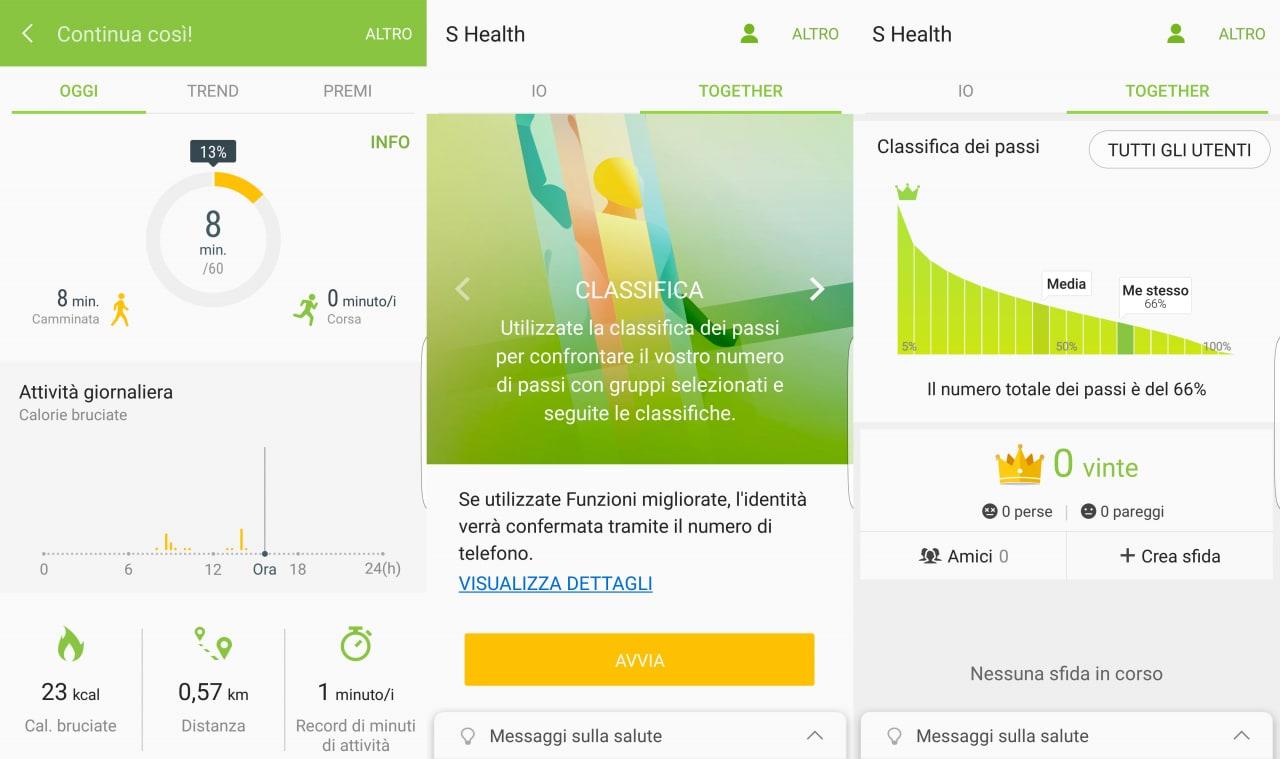 aggiornamento s health