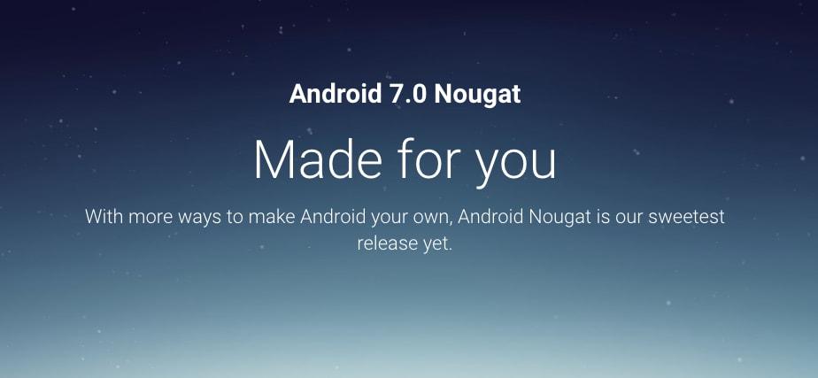 Android Nougat non è ancora stato rilasciato, ma il suo sito ufficiale sì!