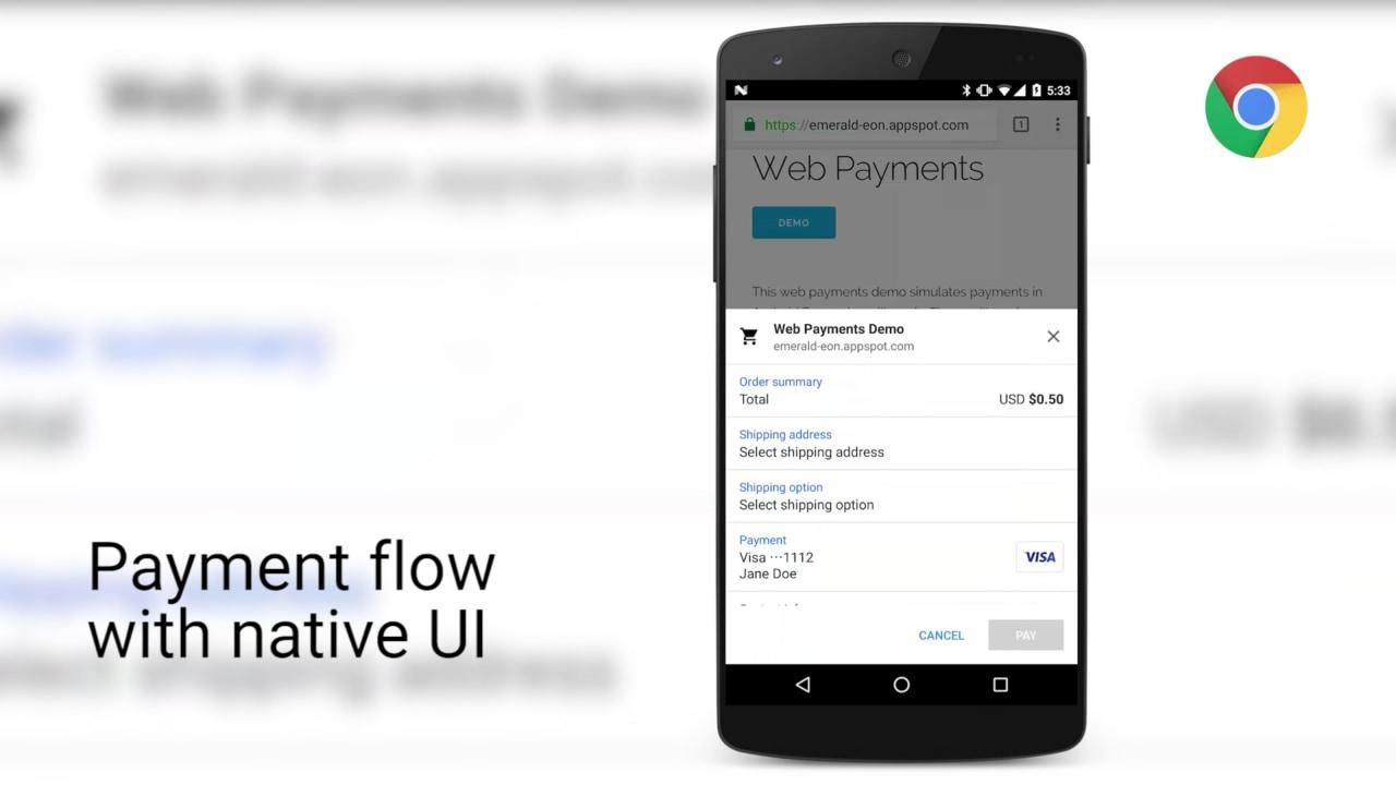 Chrome 53 beta inizia a supportare le nuove API per pagamenti in-browser