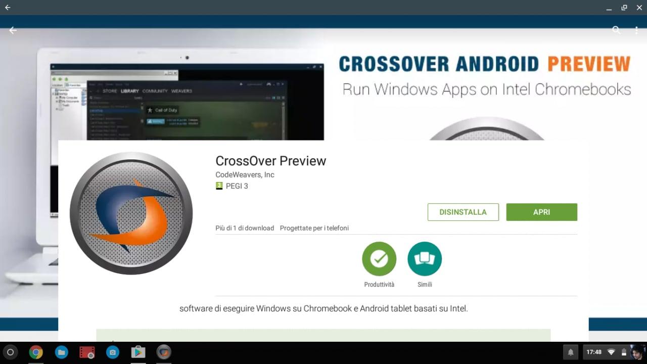 CrossOver per Android alpha 4 supporta Nougat, per renderlo un po' più Windows