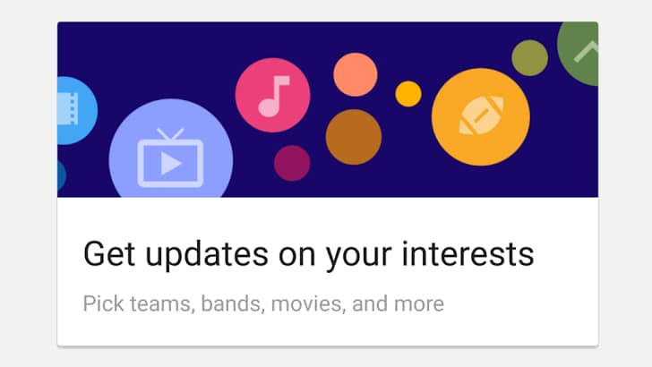 nuovi interessi google now