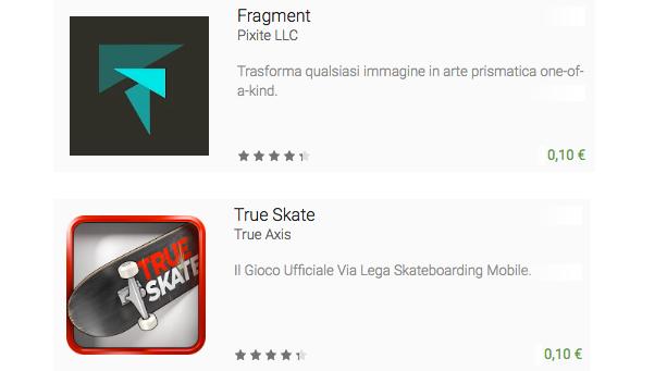 Fragment e True Skate sono l'app ed il gioco in offerta questa settimana (video)