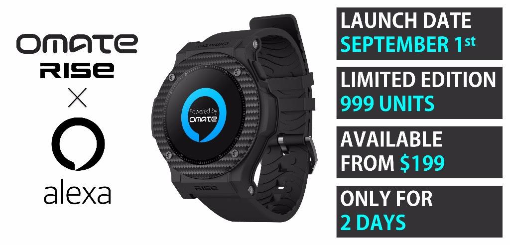 Omate porta Alexa sul suo smartwatch Android e annuncia un'edizione speciale (video)