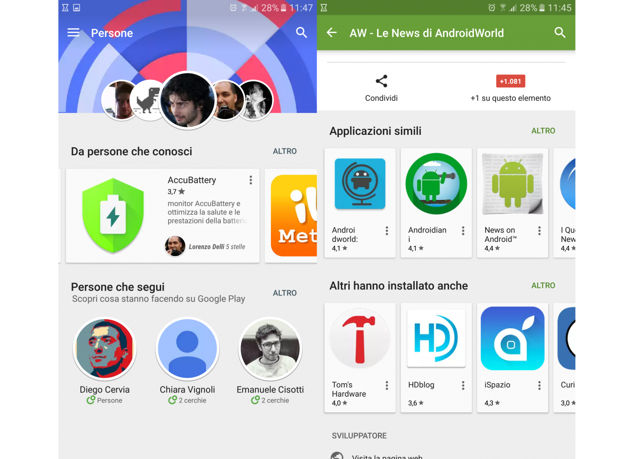 persone +1 play store