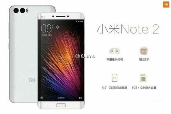 Mi Note 2 in nuove immagini: il migliore Xiaomi dell'anno è in arrivo
