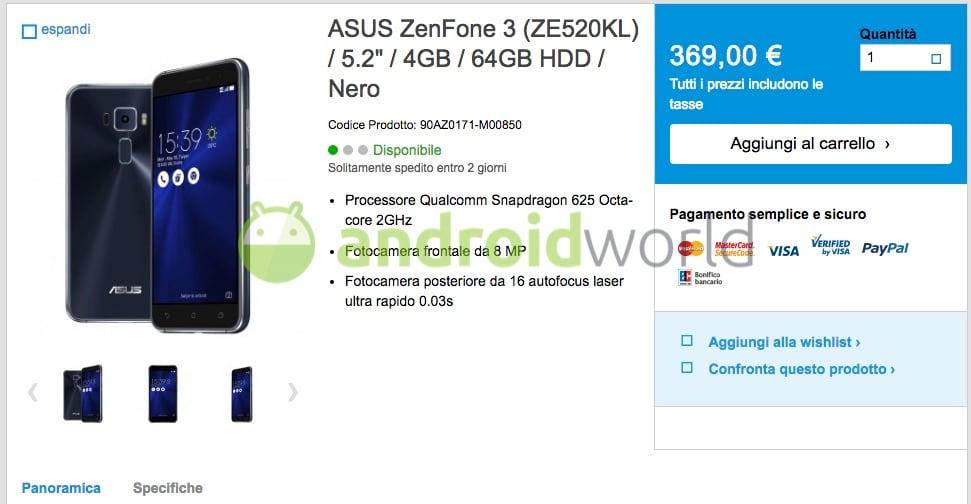 ASUS ZenFone 3 Prezzo –