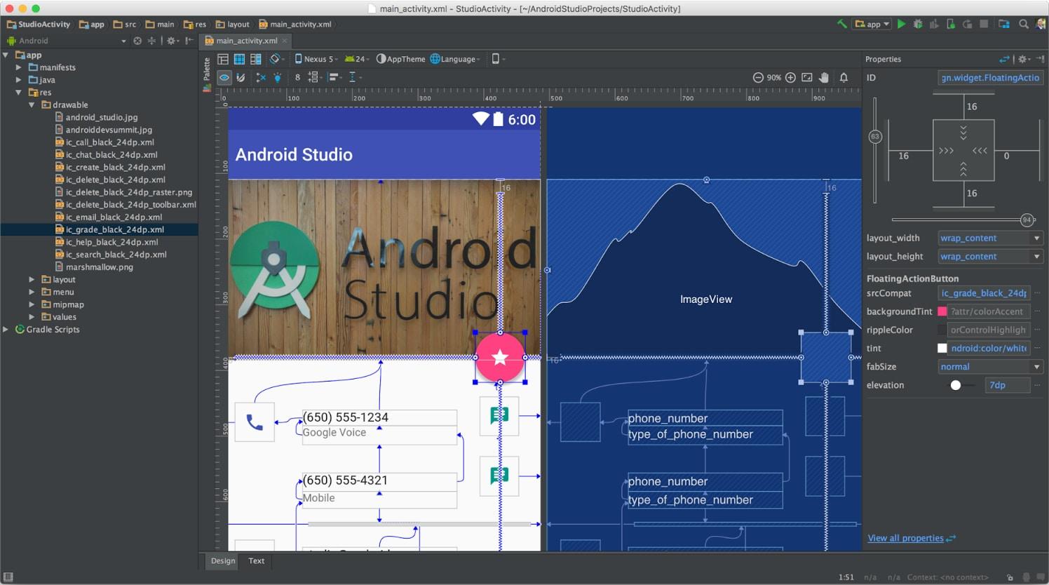 Android Studio 2.2: analizzatore di APK, editor di layout, sensori nell'emulatore e altro