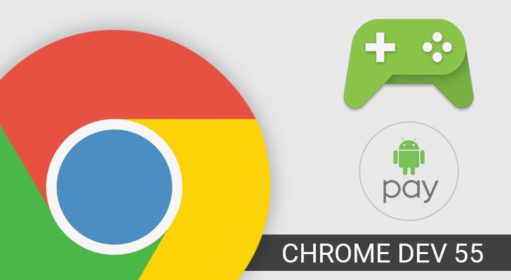 Chrome Dev 55 rifinisce l'integrazione con Android Pay ed il supporto ai gamepad (foto)