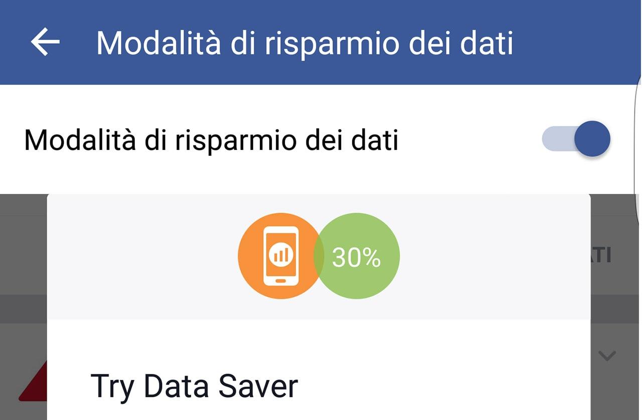 Su Facebook Beta è possibile provare la Modalità di risparmio dati (foto)