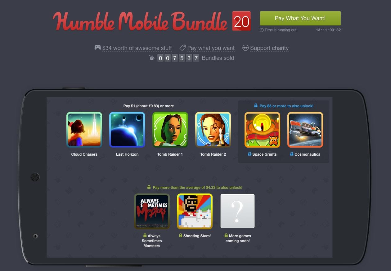 Tomb Raider e Tomb Raider 2 a 0,90€ con il nuovo Humble Mobile Bundle 20