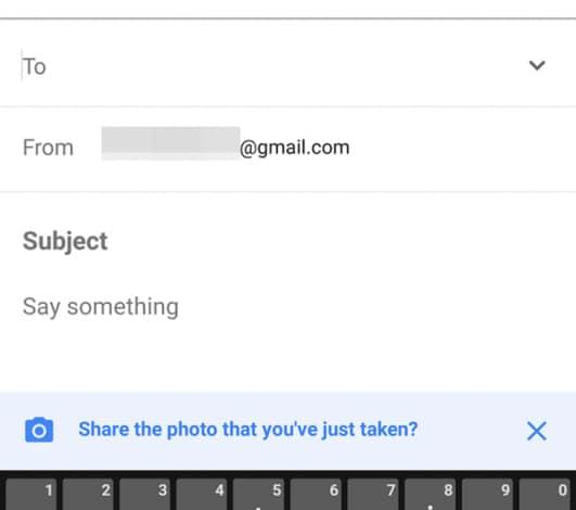 Inbox avviso foto allegata