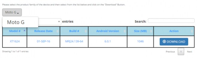 Moto G download factory image