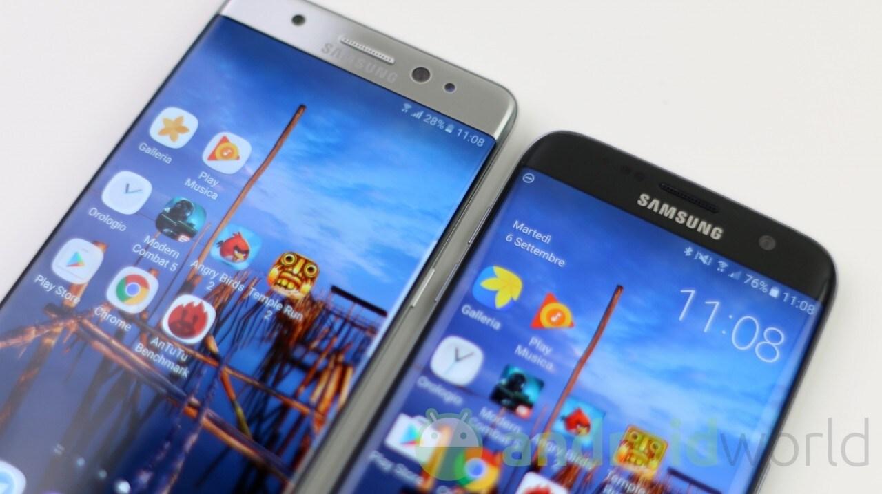 Samsung Galaxy Note 7 vs Galaxy S7 edge, il nostro confronto (foto e video)